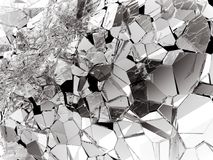 Damaged or broken glass on white. 3d rendering 3d illustration Royalty Free Stock Photos