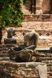 Damaged of Buddha image Royalty Free Stock Photography