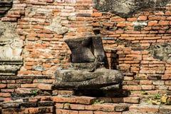 Damaged of Buddha image Stock Photos