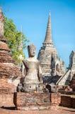 Damaged Buddha statue at Wat Phra Sri Sanphet, Ayutthaya, Thaila Stock Images