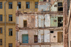 Damaged building Stock Image