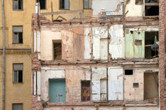 Damaged building Royalty Free Stock Photos