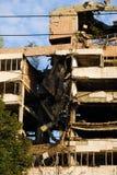 Damaged building Belgrade, Serbia Royalty Free Stock Photo