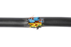 Damaged cable Stock Photography
