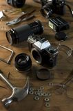 Damaged Camera Royalty Free Stock Photo