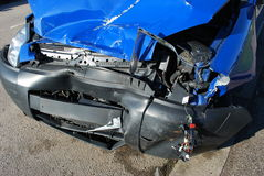 Damaged car. Car damaged in road accident Stock Photo