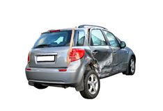 Damaged car stock photos