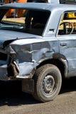 Damaged Car. A damaged demolition derby car Stock Images