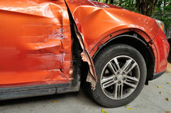 Damaged car after accident Royalty Free Stock Photo