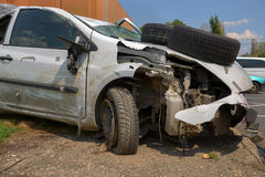 Damaged car after the accident Royalty Free Stock Photography
