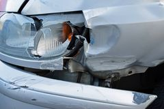 Damaged car after accident Stock Photography