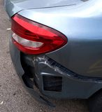 A damaged car bumper Royalty Free Stock Photos