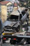 Damaged car royalty free stock photography