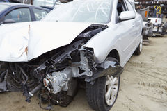 Damaged Car Involved In Traffic Accident Royalty Free Stock Photos