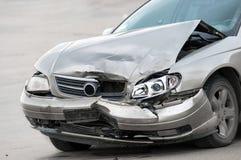Damaged car on the road. Closeup Royalty Free Stock Photo