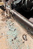 Damaged car after road accident Stock Images