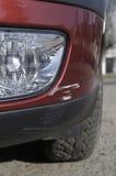 Damaged Car - Scratch Royalty Free Stock Photography
