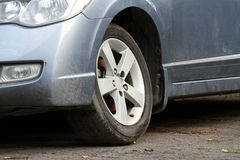 Damaged car suspension Royalty Free Stock Photography