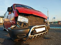 Damaged car after traffic accident Stock Images