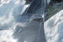 Damaged car windscreen Royalty Free Stock Photography