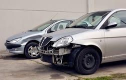 Damaged cars stock photos