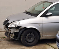 Damaged car. Car damaged in road accident Royalty Free Stock Photography