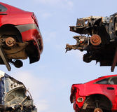 Damaged cars after a crash Royalty Free Stock Image