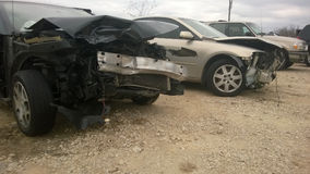 Damaged cars Royalty Free Stock Photo