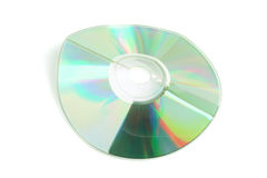 Damaged CD Royalty Free Stock Photo