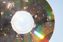 Damaged CD Stock Photography