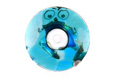 Damaged CD or DVD data Royalty Free Stock Photos