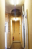 Damaged ceiling in a corridor Royalty Free Stock Photography