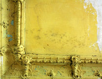 Damaged ceiling in an old abandoned home Stock Image