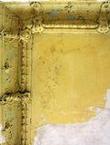 Damaged ceiling in an old abandoned home Royalty Free Stock Image