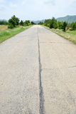 Damaged cement road Stock Photography