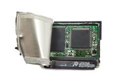 Damaged cf card Stock Photos