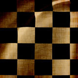 Damaged checkered background Stock Images