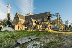 Damaged Christchurch Cathedral Stock Images