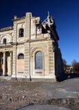 Damaged Christchurch Catholic Cathedral Northwestern Corner stock photos