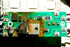 Damaged circuit board Royalty Free Stock Photos