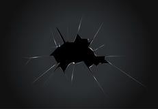 Damaged computer - broken monitor glass. Concept vector illustration