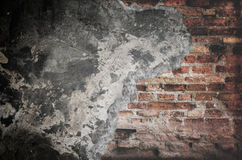 Damaged concrete wall Stock Photo