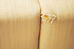 Damaged couch Royalty Free Stock Photography