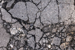 Damaged cracked asphalt Royalty Free Stock Image