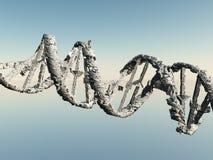 Damaged DNA Strands. Damaged and corroded DNA Strands stock illustration