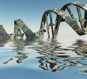 Damaged DNA Strands Stock Images