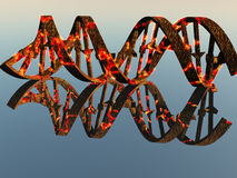 Damaged DNA Strands Royalty Free Stock Images
