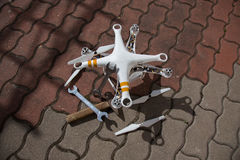 Damaged drone Stock Photography