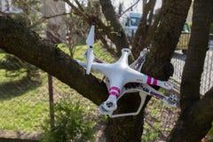 Damaged drone Stock Photo