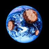 Damaged Earth stock photo